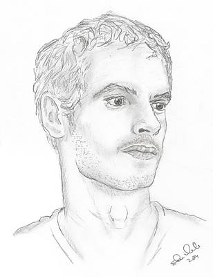 Steven White Drawing - Andy Murray by Steven White