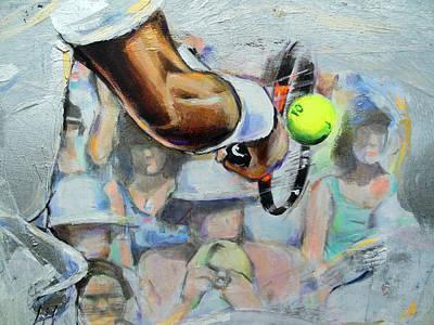 Wimbledon Painting - Andy Murray - Wimbledon 2013 by Lucia Hoogervorst