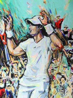 Wimbledon Painting - Andy Murray - Winner Wimbledon 2013 by Lucia Hoogervorst