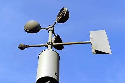 Anemometer And Wind Vane Print by Bildagentur-online/mcphoto-schulz