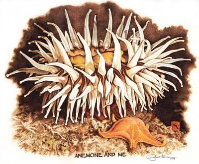 Anemone And Me Original by Cynthia Adams