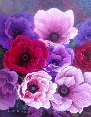 Gift Of Love Drawing - Anemone Flower by YongWoon Suh