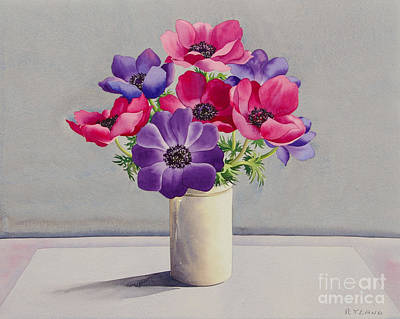 Anemones Painting - Anemones by Christopher Ryland