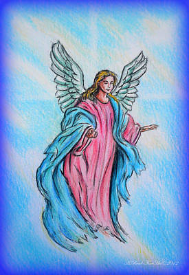 Icon Drawing - Angel by Andrew Read