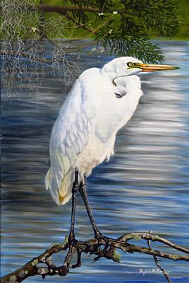 Angel At Sylvia's Pond Print by Phyllis Beiser