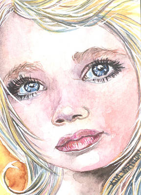 Innocence Painting - Angel Baby by Kim Whitton