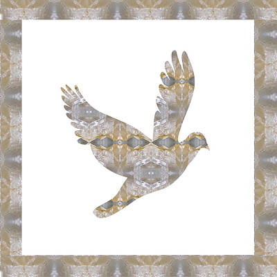Angel Bird Pet Fairytale Cage Wild Exotic Crystal Stone Cutout Graphics Buy Or Download For Self Pri Print by Navin Joshi