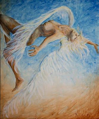 Nude Painting - Angel Blu Drifter by Nik Helbig