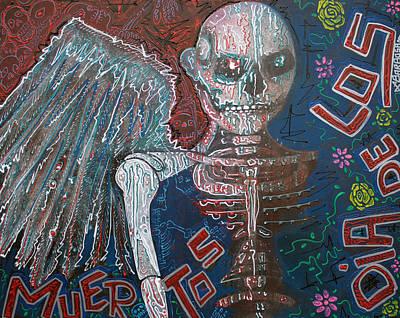 Horror Painting - Angel De Los Muertos by Laura Barbosa
