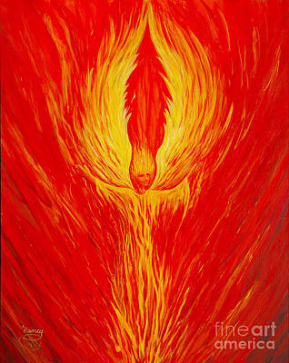 Seraphim Angel Painting - Angel Fire by Nancy Cupp