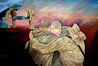 Battle Painting - Angel Flight II by Annette Redman