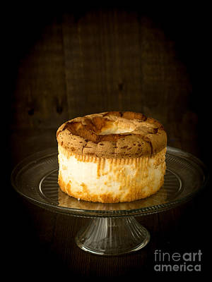 Platter Photograph - Angel Food Cake by Edward Fielding
