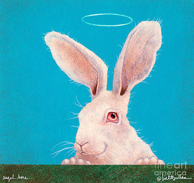 Angel Hare... Print by Will Bullas