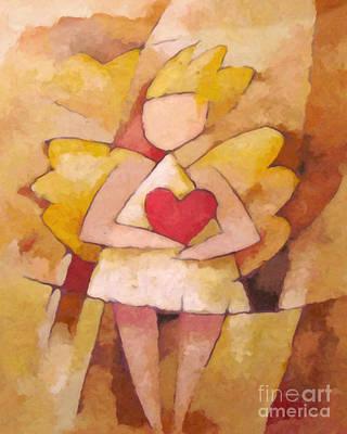 Angel Art Painting - Angel Heart by Lutz Baar
