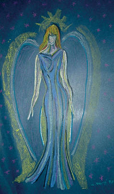 Angel In Blue Print by Mike Manzi