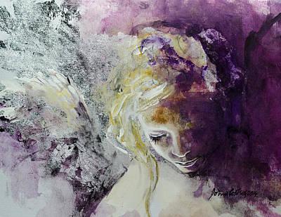 Girls Mixed Media - Angel In Chiaroscuro by Dorina  Costras