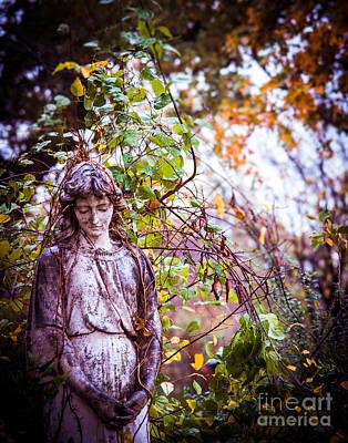Angel In Vines Print by Sonja Quintero