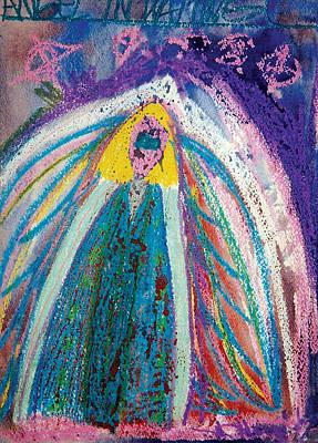 Angel In Waiting Print by Mike Manzi