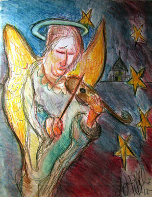Painting - Angel by Jon Baldwin  Art