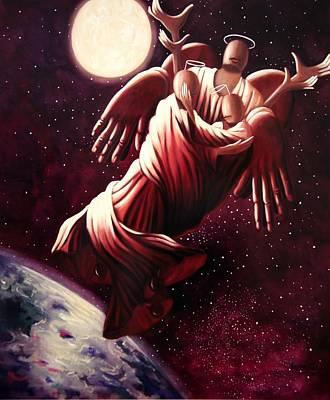 Angel Love Print by Anthony Falbo