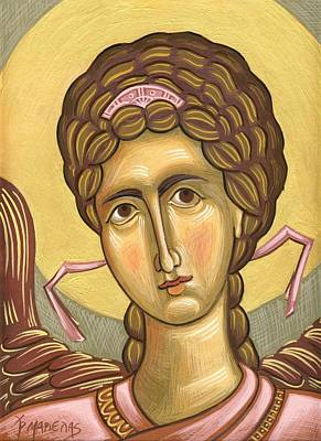 Egg Tempera Painting - Angel by Mariela Constantinidis