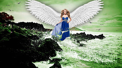 Angel Print by Marvin Blaine