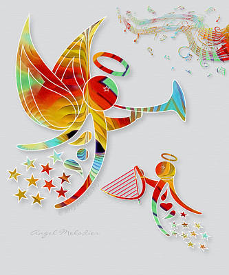 Angel Melodies Print by Gayle Odsather