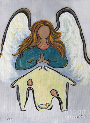 Child Jesus Mixed Media - Angel - Messenger Of Joy by Ella Kaye Dickey