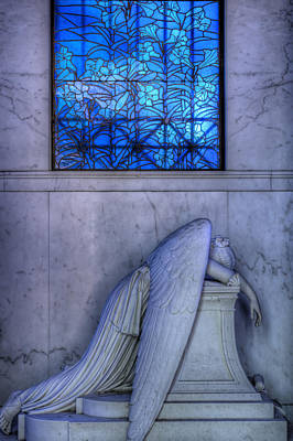 Metairie Cemetery Photograph - Angel Of Grief New Orleans 1 by Gregory Cox