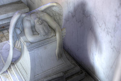 Metairie Cemetery Photograph - Angel Of Grief New Orleans 3 by Gregory Cox