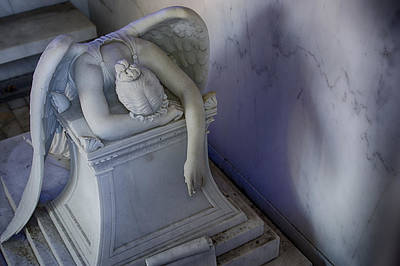 Metairie Cemetery Photograph - Angel Of Grief New Orleans 4 by Gregory Cox