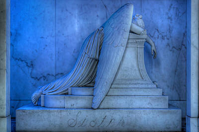 Metairie Cemetery Photograph - Angel Of Grief New Orleans 5 by Gregory Cox