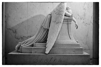 Metairie Cemetery Photograph - Angel Of Grief New Orleans 6 by Gregory Cox
