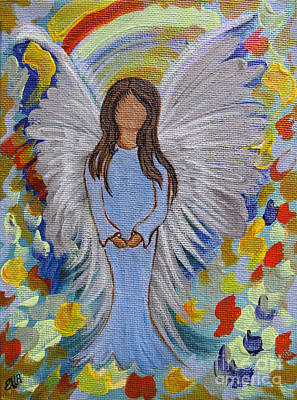 Spiritual Portrait Of Woman Mixed Media - Angel Of Devotion by Ella Kaye Dickey
