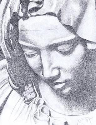 Mercy Drawing - Angel Of Mercy by Paul Smutylo