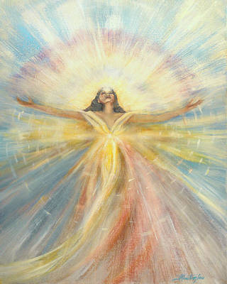 Manipura Painting - Angel Of Possibilities by Joyce Huntington
