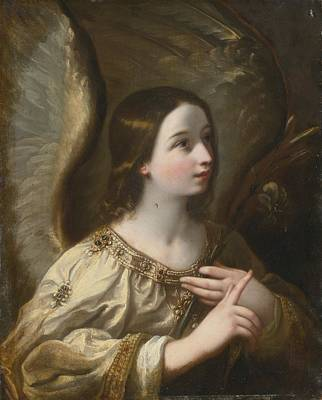 Angel Of The Annunciation Print by Celestial Images