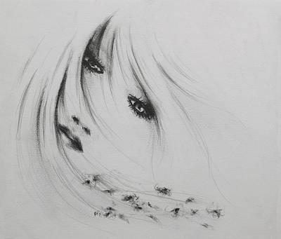 Angel Of The Flowers Print by Rachel Christine Nowicki