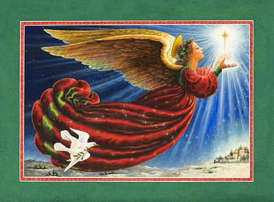 Angel Of The Star Print by Lynn Bywaters