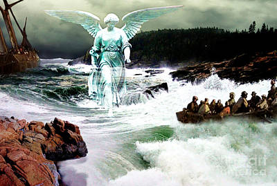 Rock Angels Digital Art - Angel Of The Storm  by Lianne Schneider