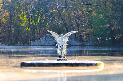 Angel Photograph - Angel On A Misty Lake  by Bill Cannon