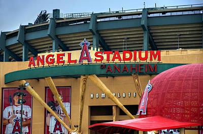 Baseball Photograph - Angel Stadium by Ricky Barnard