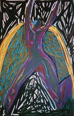 Angel Standing Print by Mike Manzi