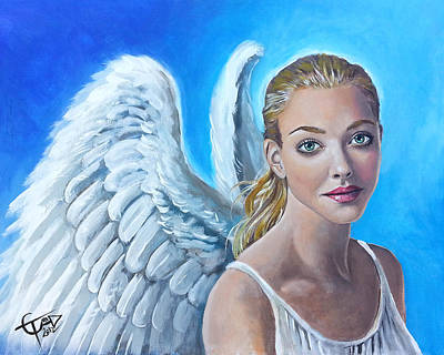 Heavenly Angels Painting - Angel by Tom Carlton