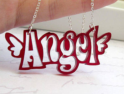Angel Topography Necklace Original by Rony Bank