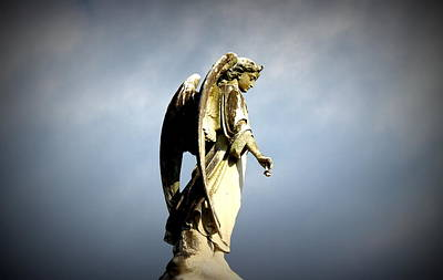 Metairie Cemetery Photograph - Angel Wings by Beth Vincent