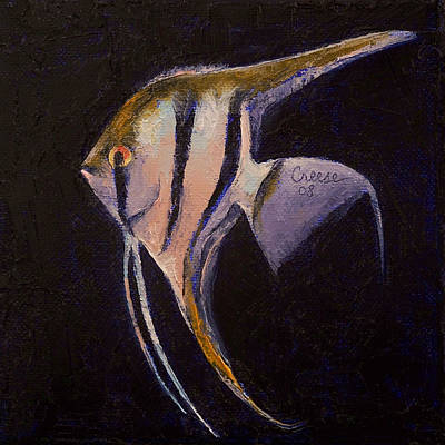 Tropical Fish Painting - Angelfish by Michael Creese
