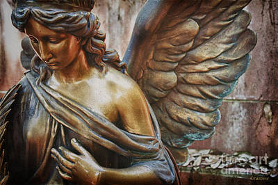 Contemplating Photograph - Angelic Contemplation by Terry Rowe