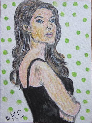 Angelina Jolie Print by Kathy Marrs Chandler