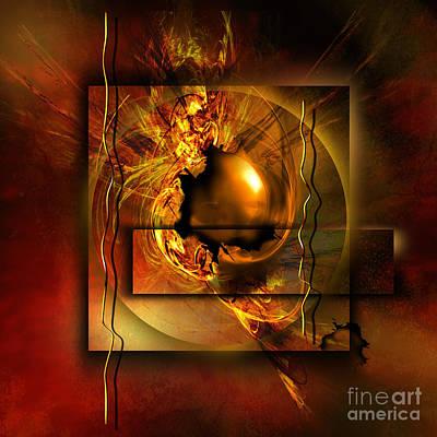 Abstrakt Digital Art - Angelos by Franziskus Pfleghart